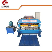 10% discount trapezoidal metal roof sheet roll forming machine in stock